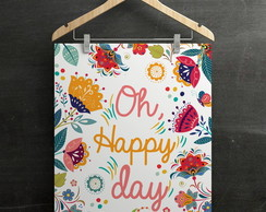 "Poster ""Happy Day"" A4 (sem moldura)"