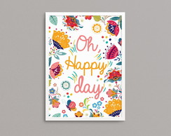 "Quadro ""Happy Day"" A3"