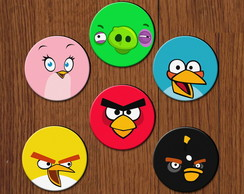 Kit Porta Copos Neoprene - Angry Birds