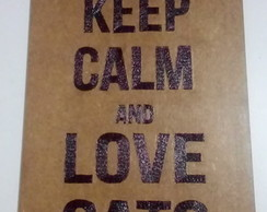 Quadro Decorativo MDF - Keep Calm / Cats