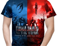 Camiseta Masculina Guerra Civil Marvel 2