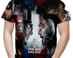 Camiseta Masculina Guerra Civil Marvel