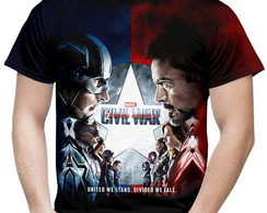 Camiseta Masculina Guerra Civil Marvel 3
