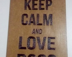 Quadro Decorativo MDF - Keep Calm / Dogs