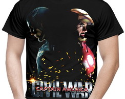 Camiseta Masculina Guerra Civil Marvel 4