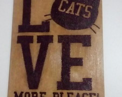 Quadro Decorativo MDF - Love Cats