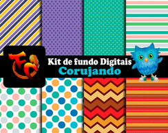 Kit de fundos Digitais - Corujando