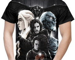 Camiseta Masculina Game of Thrones Corvo