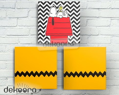 Kit Quadrinhos Decorativos Snoopy