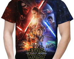 Camiseta Masculina Star Wars VII 7 MD02