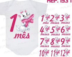 Kit Body mesversario Gata Mary Gatinha