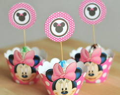Saia Cupcake Wrapper + Topper Minnie