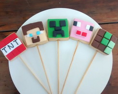 Biscoito decorado minecraft