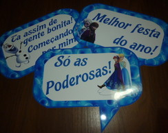 Placas divertidas FROZEN MOD 2