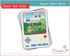 Save the Date Digital Super Mario Bros.