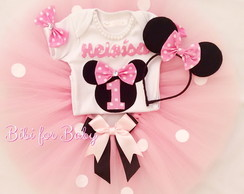Fantasia Infantil minnie Rosa Love