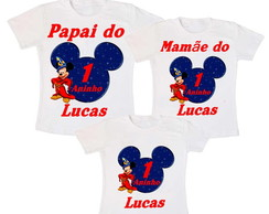 Kit 3 Camiseta Mickey Mouse