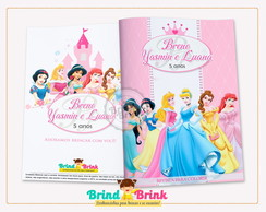 Revista para Colorir Princesas Disney