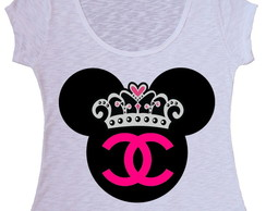 Blusa T-shirt Minnie Chanel