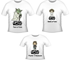 kit 3 camisetas aniversario star wars