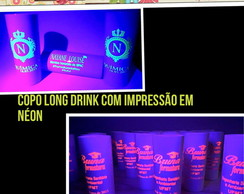 100 Copos Long Drink festa Neon