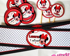 Kit Rótulos Minnie Mouse