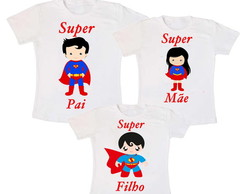 Kit 3 Camiseta Superman Aniversario