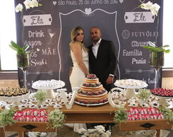 Backdrop Chalkboard Casamento - Digital