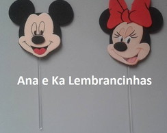 Topper/ Enfeite Palito Mickey ou Minnie