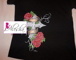 "Babylook Tattoo"", cruz e rosas"