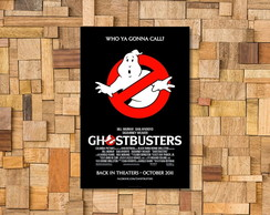Placa Decorativa Ghostbusters