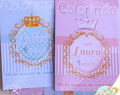 Revista de colorir Coroa Princesa