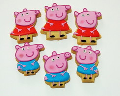 Peppa Pig Bolacha Decorada