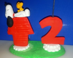 VELA BISCUIT TOPINHO SNOOPY
