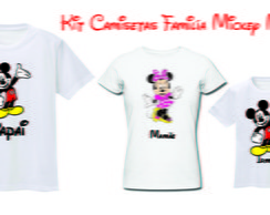 Kit Camisetas para festa Mickey ,Minnieo