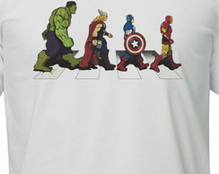 Camiseta The Avengers - Abbey Road