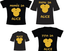 Kit Camisetas para Aniversario Minnie
