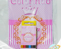 Kit de colorir Coroa Princesa