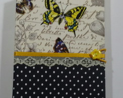 Caderno Artesanal com costura Longstitch