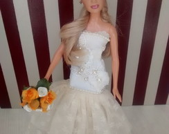 Barbie Noiva Off White