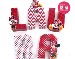 Letras 3D- Minnie