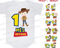 Kit 12 Body bebe Mês a Mês Toy Story