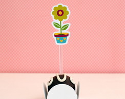Toppers para doces - Flores