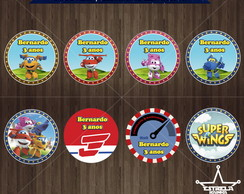 Toppers / Tags Digitais Super Wings