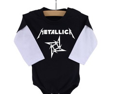 Body Metallica Manga Longa