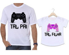 Camisetas Tal Pai, Tal Filha Vídeo Game