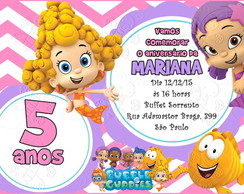 convite digital bubble guppies