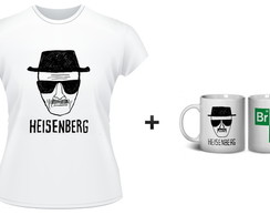 kit 1 camiseta + 1 caneca breaking bad