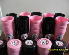 Copinhos 200ml Com tampa Minnie