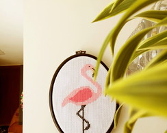 Bordado flamingo